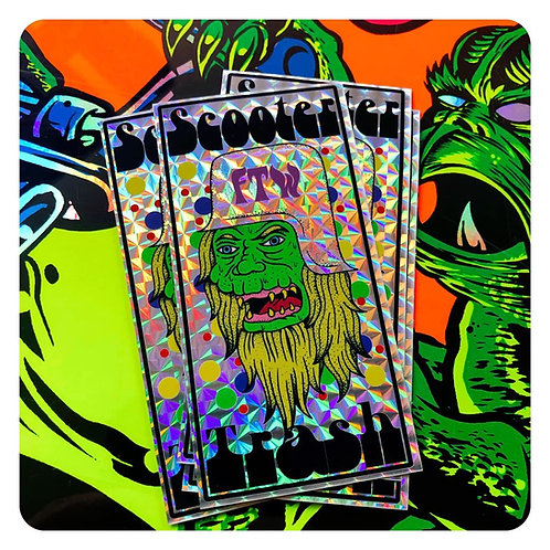 Scooter Trash Mutant Holographic Stickers