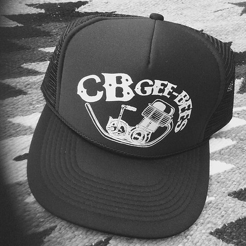 "Honda Style ""CB-Gee-bees"" engine black trucker hat"