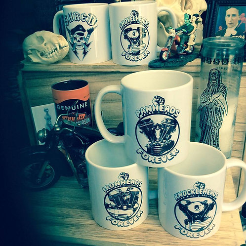 Garage, Shop, Mancave, Kitchen biker mugs!!