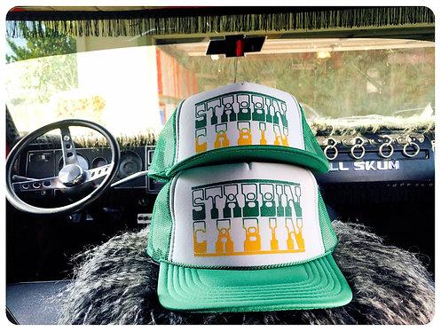 STABBIN' CABIN Kelly green trucker hat