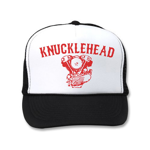 KNUCKLEHEAD ENGINE WHITE/BLACK HATS