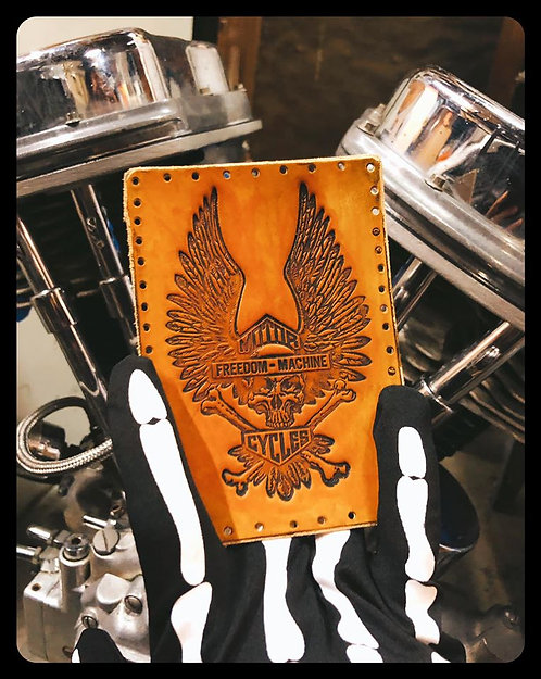 Freedom Machine winged Shield Leather Patch