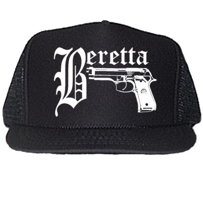 BERETTA BLACK TRUCKER HATS
