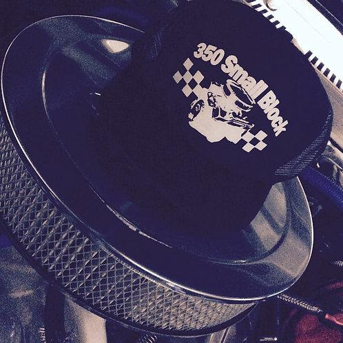 350 SMALL BLOCK BLACK TRUCKER HATS