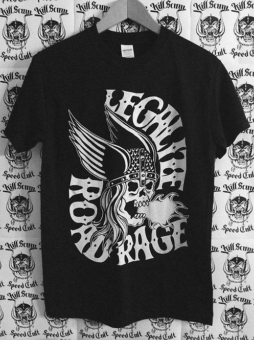 """Legalize Road Rage"" screamin' viking black Tees"