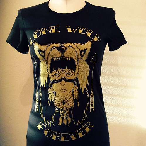 LONE WOLF FOREVER WOLF GIRL SHIRT