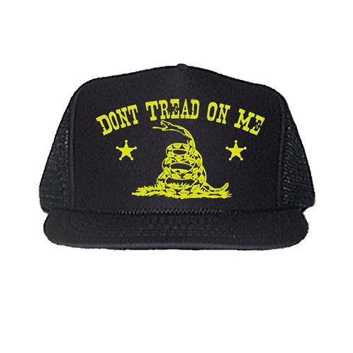 DON'T TREAD ON ME BLACK TRUCKER HATS