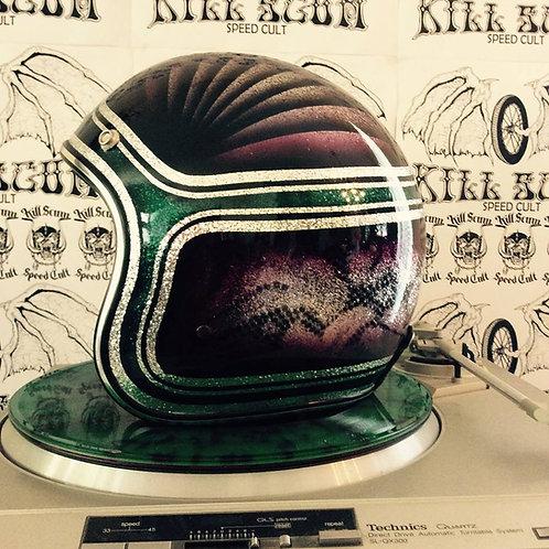 PHARAOHS CROWN 3/4 open face custom helmet