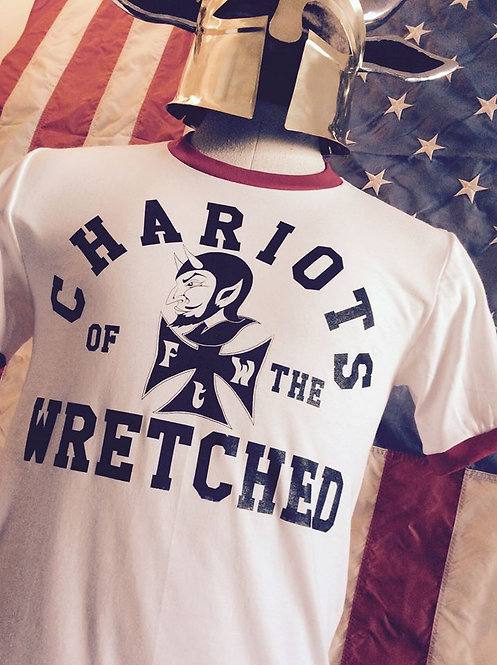 CHARIOTS OF THE WRETCHED Iron Devil ringer Tee
