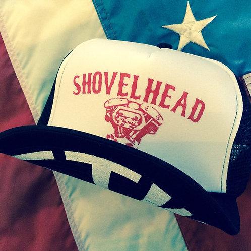 SHOVELHEAD ENGINE WHEEL WHITE/BLACK HATS