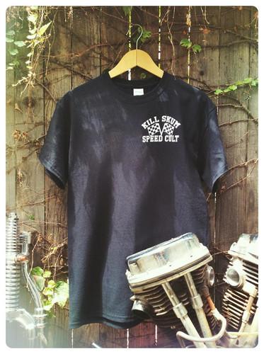 6850830db Ironhead Death Trap engine & pentagram black cotton tee