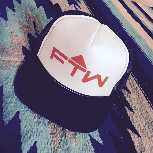 AMF STYLE FTW HATS!! BLACK AND WHITE