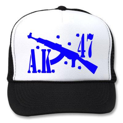 AK 47 WHITE/BLACK HATS