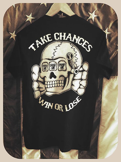 "Death Head ""take chances, win or lose"" shirt"