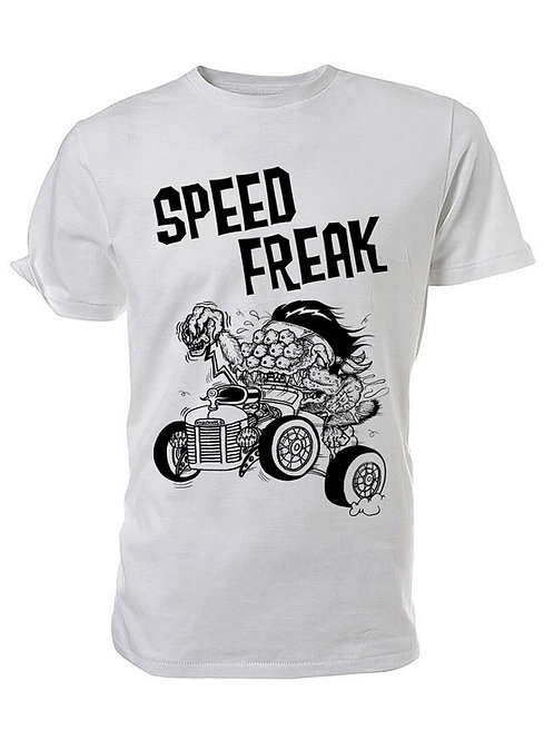 SPEED FREAK WHITE TEE SHIRT