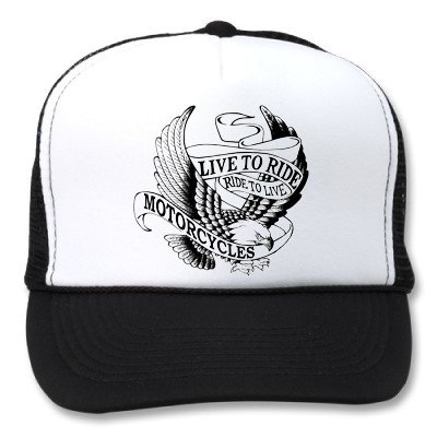 LIVE TO RIDE RIDE TO LIVE EAGLE WHITE/BLACK HATS