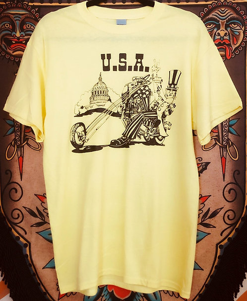 USA UNCLE SAM CHOPPER Yellow classic shirt
