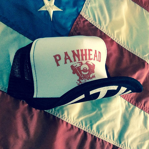 PANHEAD ENGINE WHITE/BLACK HATS