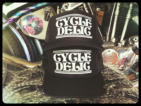 Cycledelic adjustable snapback black trucker hat