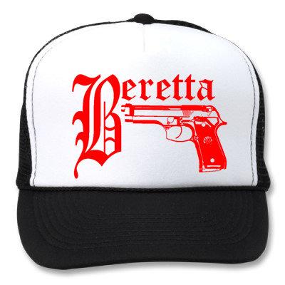 BERETTA WHITE/BLACK HATS