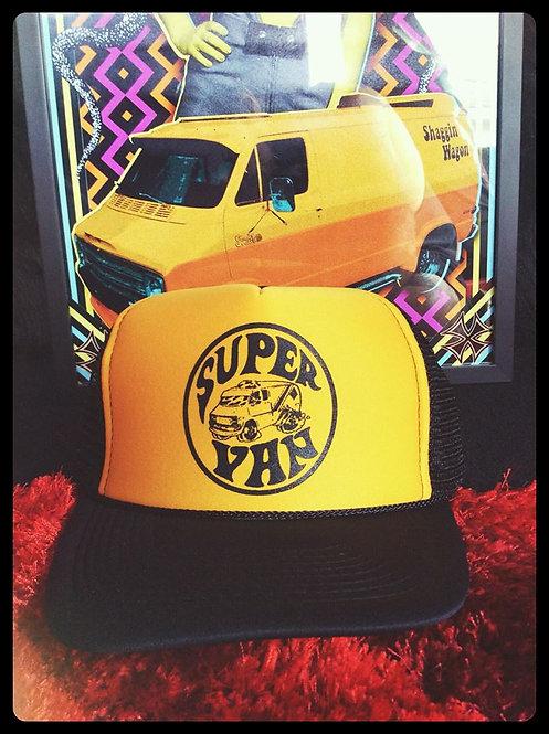 Super Van black & mustard adjustable trucker hat