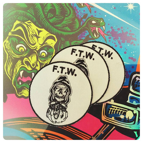 """F.T.W. Reaper & Engine 3"""" Embroidered Patch"""
