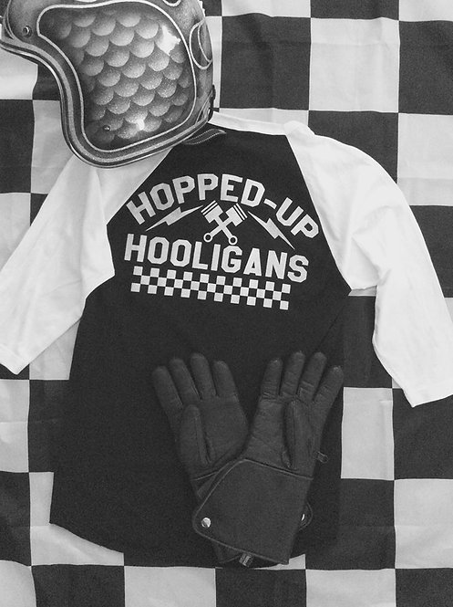 HOPPED-UP HOOLIGANS Crossed piston 40s track shirt