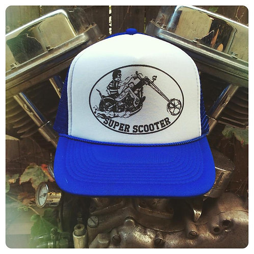 Super Scooter Blue & White snap back truck cap