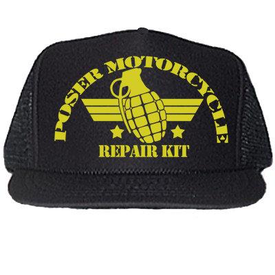 """POSER REPAIR KIT"" BLACK TRUCKER HATS"