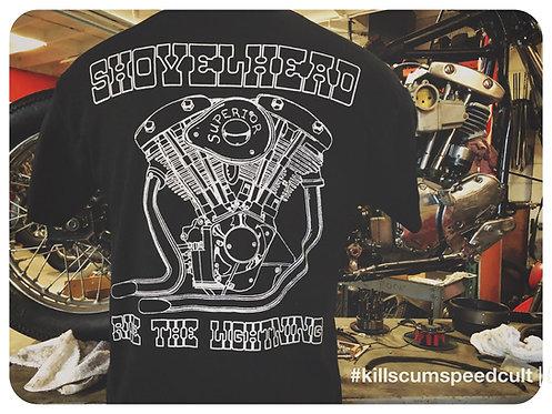 Shovelhead Ride The Lightning Engine Shirt