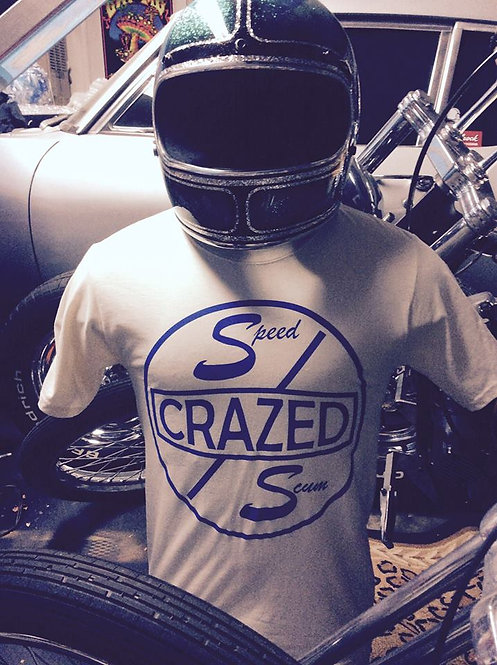 """""""Speed Crazed Scum"""" Cragar like white tee shirts"""