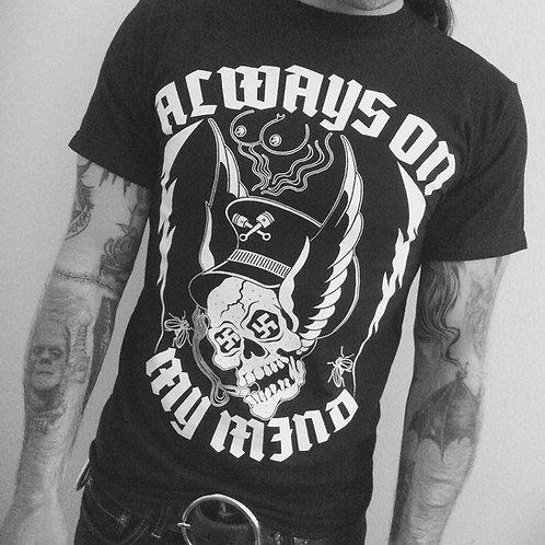 """Always On My Mind"" Boob Nazi Skull & Tit shirt"