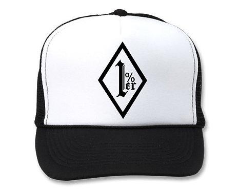 1%ER OUTLAW CLUB  WHITE/BLACK HATS