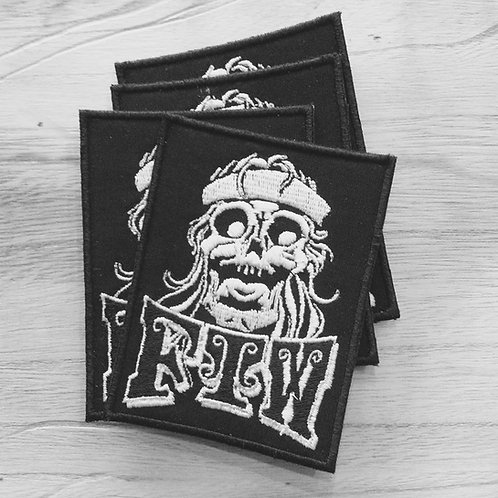 FTW bandana skull embroidered patch