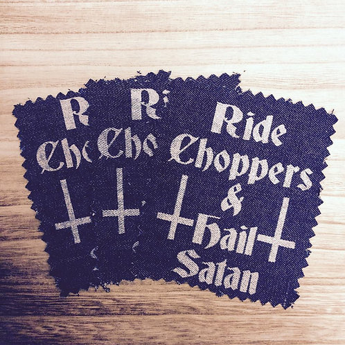Ride Choppers $ Hail Satan Denim Patch