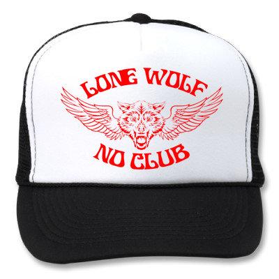 LONE WOLF NO CLUB WHITE/BLACK HATS