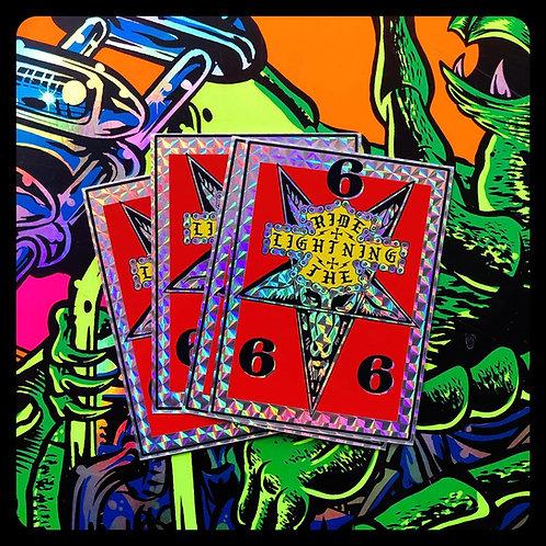 Ride The Lightning Pentagram Prism Stickers