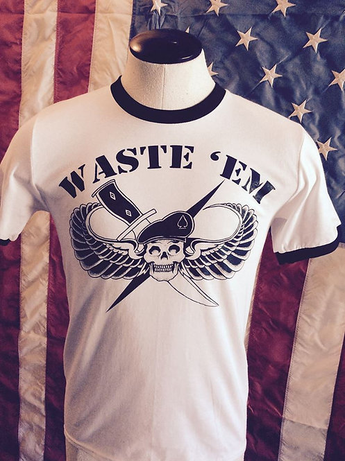WASTE'EM Commando ringer shirt
