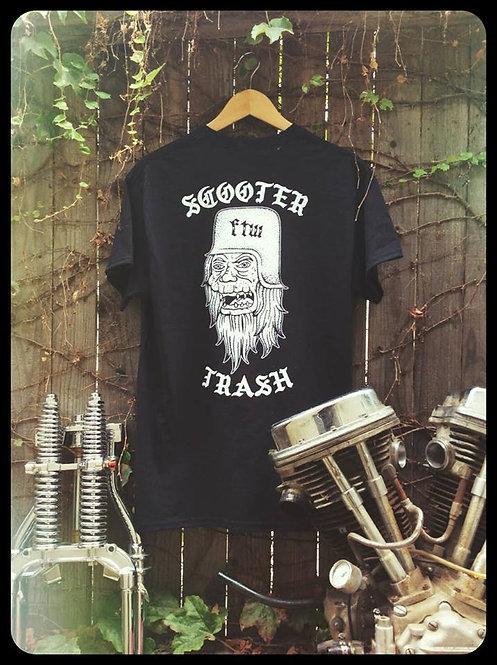 Scooter Trash Mutant & Helmet Ugly Mofo black cotton Tee