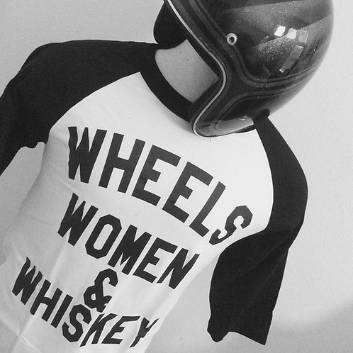 Wheels Women & Whiskey 3/4 Sleeve baseball shirts