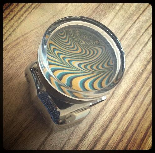 Psychedelic Swirls Steering Wheel Spinner Knobs