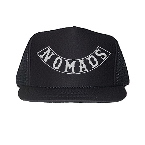 NOMADS BLACK TRUCKER HATS