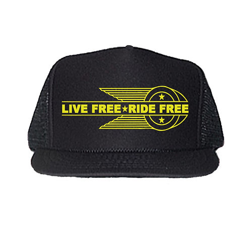 LIVE FREE RIDE FREE HD STYLE OG EMBLEM HAT