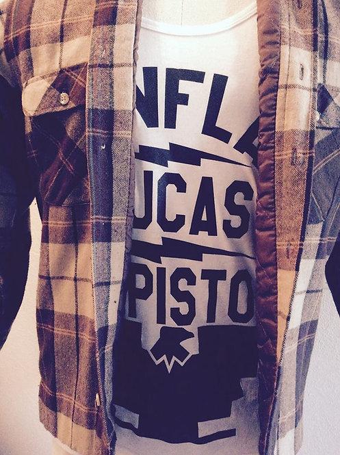 """RANFLAS RUCAS Y PISTO"" Men's white tank tops"