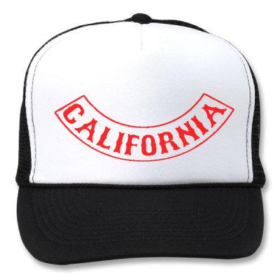 CALIFORNIA ROCKER PATCH WHITE/BLACK HATS