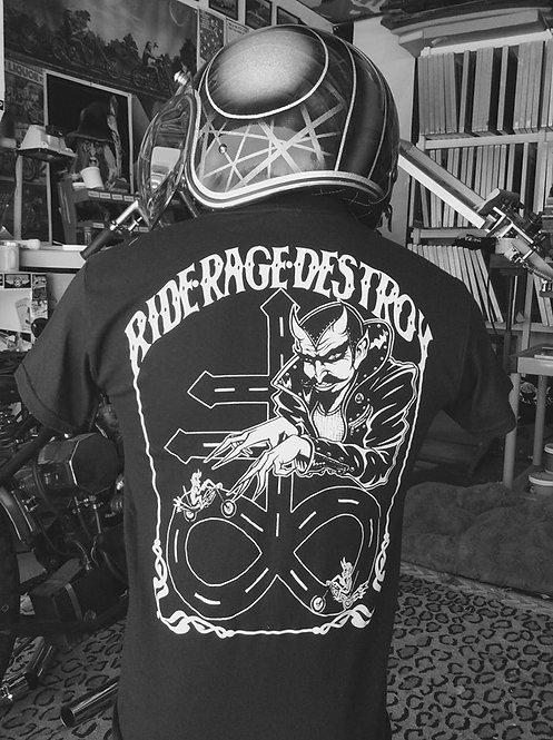"""""""Ride, Rage, Destroy"""" Crux Satanus, devils road T"""