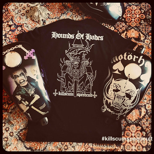 Hounds Of Hades Reaper Burning Church black tee