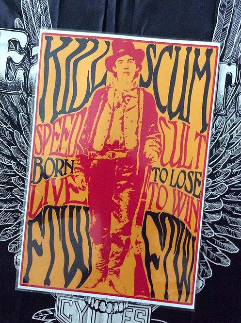 Billy The Kid Killscum Outlaw 13x19 print