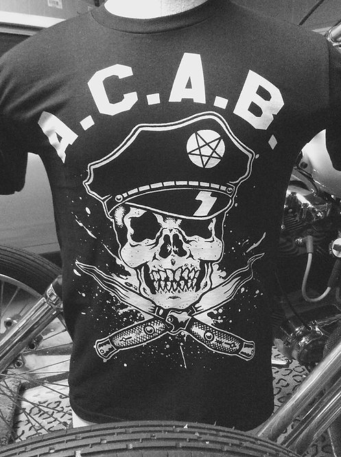 "A.C.A.B. ""all cops are bastards"" possessed pig shi"
