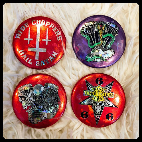 "2"" Holographic Pins Collection ""A"""